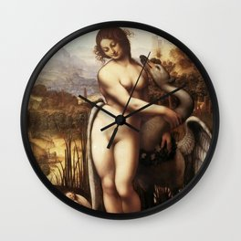 "Leonardo da Vinci ""Leda and the Swan"" Wall Clock"