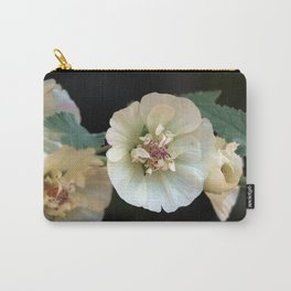 Pastel Hollyhocks  Carry-All Pouch