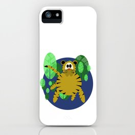 Tiger Goes Round iPhone Case
