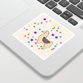 Party Llama Sticker