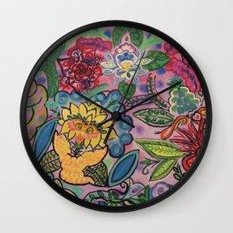 Looney Bird Painting Wall Clock