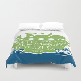 Noahs Ark - Bible - And Noah Did According to All that God had Commanded him Duvet Cover