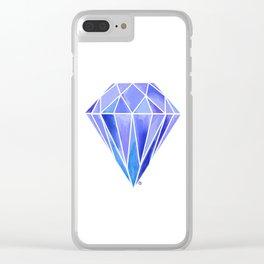 Blue Gem Clear iPhone Case