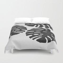 Monstera Black & White III Duvet Cover