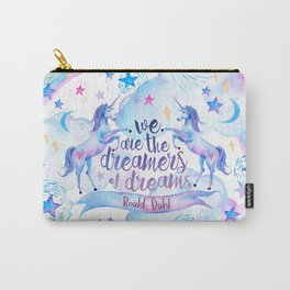 Unicorn Rainbow Quote Carry-All Pouch