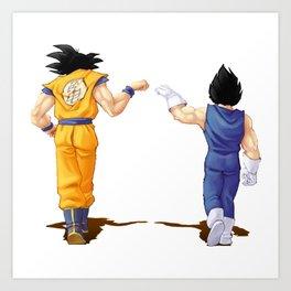 Fan Art Goku and Vegeta friends Art Print