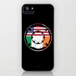 Firefighter St. Patrick's Day Irish Flag Shamrock Men iPhone Case