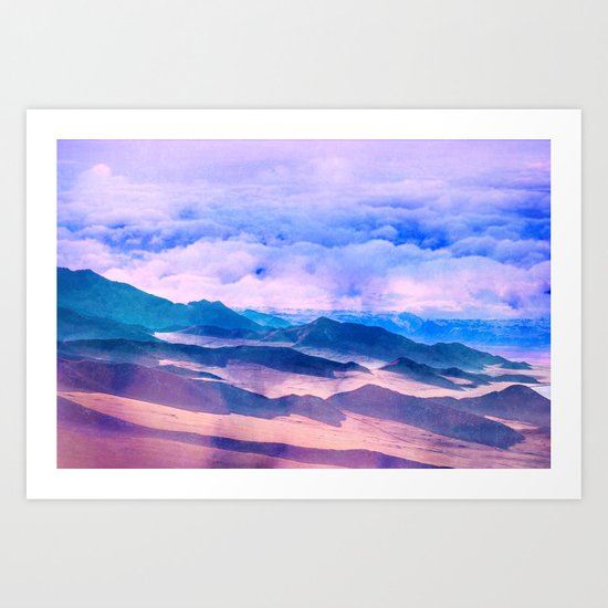 Blue Mountains Land Art Print