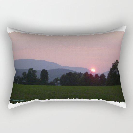 Vermont Sunset over Green Mountains of Vermont Rectangular Pillow