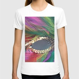 Carnival Feather Mask with Sequence T-shirt