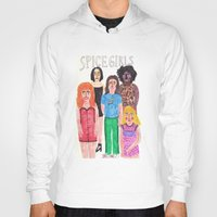 spice girls Hoodies featuring The Spice Girls by Angela Dalinger