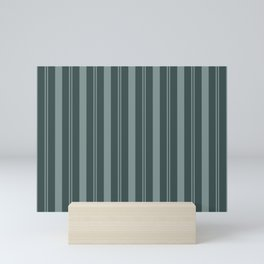Scarborough Green PPG1145-5 Thick and Thin Vertical Stripes on Night Watch Color of the Year 2019 Mini Art Print