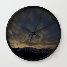 Meteor Over The Bridgers Wall Clock