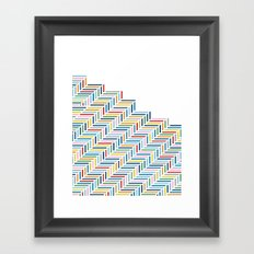 Herringbone Color Part Framed Art Print