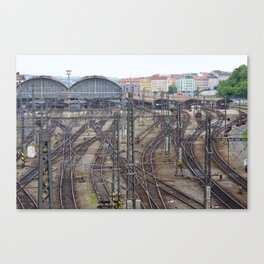 Prague Train Station Canvas Print