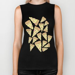 PIZZA REPEAT Biker Tank
