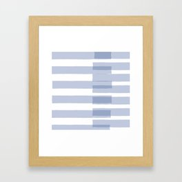 Big Stripes in Light Blue Framed Art Print