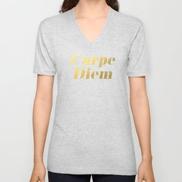 Carpe Diem (Gold) Unisex V-Neck