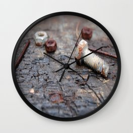 The Nuts & Bolts  Wall Clock