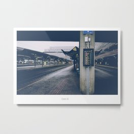 Oslo Central Station Metal Print