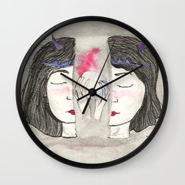 Divided Mind Wall Clock
