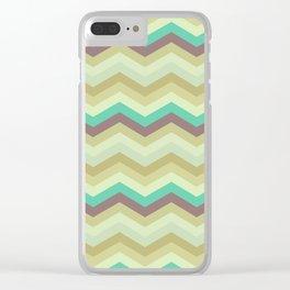 Chevron pattern Clear iPhone Case