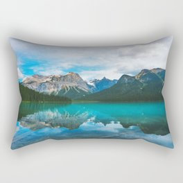 The Mountains and Blue Water - Nature Photography Rectangular Pillow