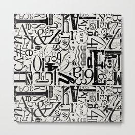 MixMatch Letters Metal Print