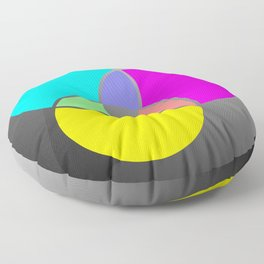 CMY Color Palette Crossover Floor Pillow