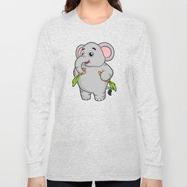 Elephants with Carrots Long Sleeve T-shirt