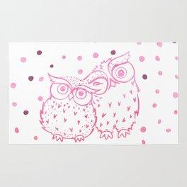 Owls - Pink Rug