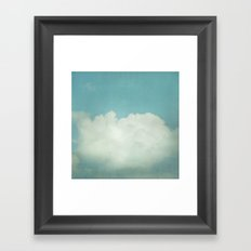 Come With Me, Wendy (blue) Framed Art Print