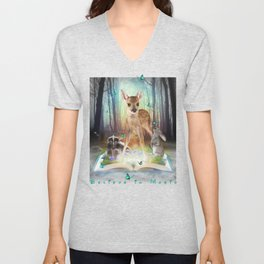 Believe In Magic • (Bambi Forest Friends Come to Life) Unisex V-Neck