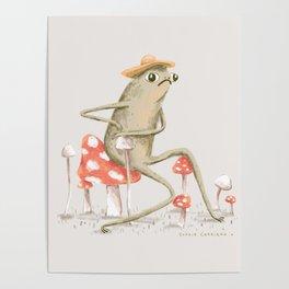 Awkward Toad Poster