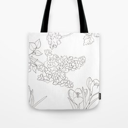 Flora of Fun - Color or Paint Your Own! Tote Bag