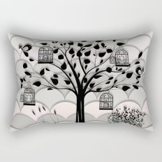 Paper landscape B&W Rectangular Pillow