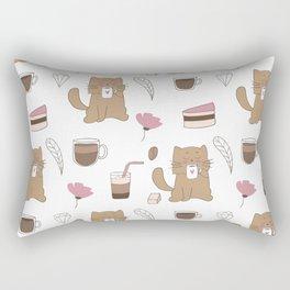 Cats and Coffee Rectangular Pillow