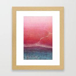 frozen series I Framed Art Print
