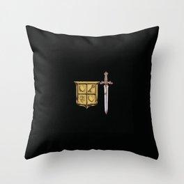 Zelda Sword & Shield Throw Pillow