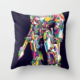 Transformer in pop art Throw Pillow