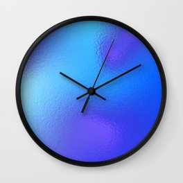 Under the ice Wall Clock