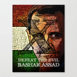 Defeat The Evil Bashar Assad Canvas Print