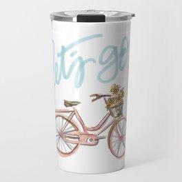 Let's Go! (vintage bike) Travel Mug