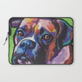 Fun BOXER Dog bright colorful Pop Art Painting by Lea Laptop Sleeve