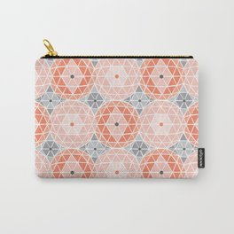 Geodome - Pink Carry-All Pouch