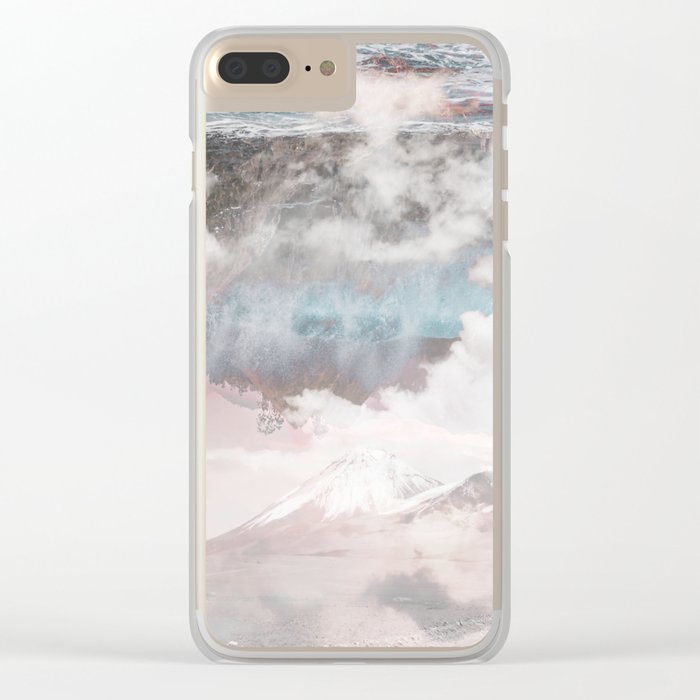 Crashing Clouds Clear iPhone Case