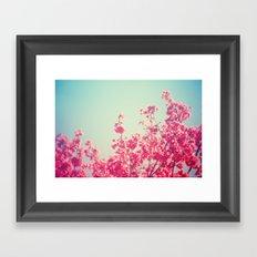 Pink Flowers in the Sky Framed Art Print