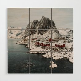 Winter in Hamnøy, Norway Wood Wall Art