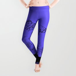 Knik River Mts. Pop Art - 1 Leggings