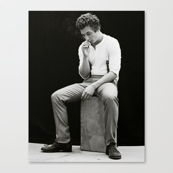 JEREMY ALLEN WHITE - Shameless (Smoking) Canvas Print